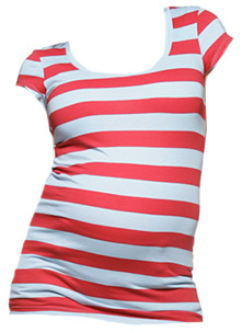 NOM Striped Cap Sleeve Tee