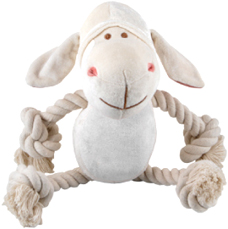 Bamboo Plush White Lamb Rope Toy