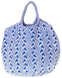 Roberta Roller Rabbit Beach Bag in Odyssey Blue
