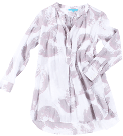 virginia Johnson Poetica Tunic in Sea Shell Grey
