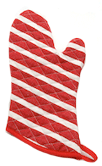 Now Designs Red Bold Stripe Oven Mitt