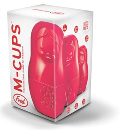 M-Cups Red Measuring Matryoshkas