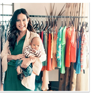 Nicole Chavez, Celebrity Stylist/Co-Designer of Shoemint, w/son Zeb