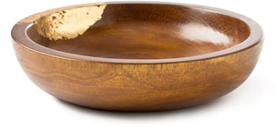 Diane Von Furstenburg Wooden Gold-Left Bowl