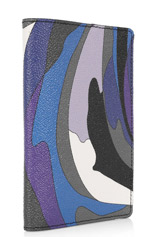 Emilio Pucci Printed Leather Passport Holder