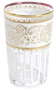 Moroccan Tea Glasses in Essaoira White Gold