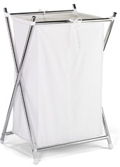 Chrome Double Folding Hamper