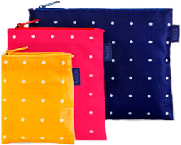 Baggu Spotted Zipper Pouches