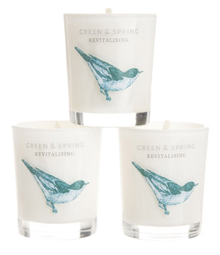 Green and Spring Revitalizing Travel Candles