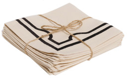 Ortolan Double Embroidery Napkin