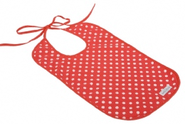 Little Choux red polka dot bib