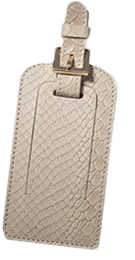 Python Leather Luggage Tag