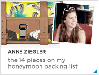 Anne Ziegler - The 10 things on my honeymoon packing list