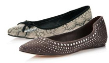 pointed ballet-flat shoes