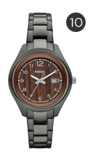 Fossil 'Flight' Round Dial Bracelet Watch