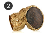 Arty Gold-Plated Wooden Ring