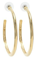 Kenneth Jay Lane Simple gold hoop earrings