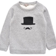 Emile Et Ada Moustache Sweatshirt