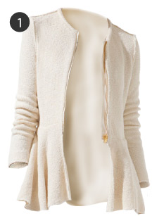 Zara Zipped Blazer With Peplum