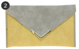 ASOS Metal Bar Envelope Clutch
