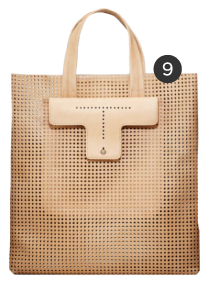 Ann Taylor Perforated Leather Tote