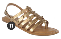 Naturalizer 'Akia' Metallic Gladiator Sandals