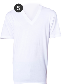 American Apparel White V-necks
