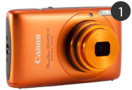 Canon Powershot in orange