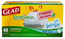 Glad Fresh Clean Scent Garbage Bags