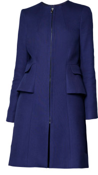 Zara Structured Coat With Hip Frill