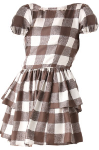 Elkin Silk Gingham Eleanore Party Dress