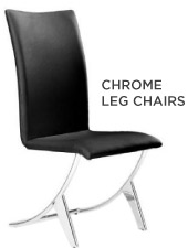 chrome leg chairs