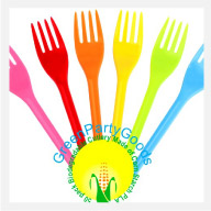 Compostable Forks Colored PLA