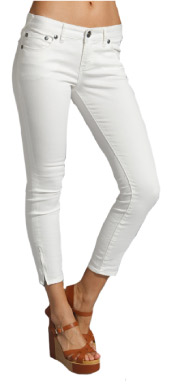 Free People Cropped Skinny Jean in White